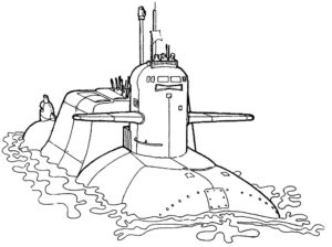 Подводная лодка картинки раскраски (31)