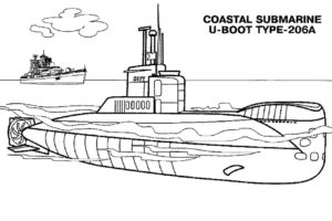 Подводная лодка картинки раскраски (35)