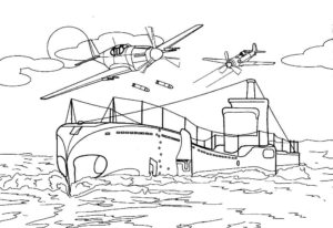 Подводная лодка картинки раскраски (37)