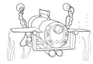 Подводная лодка картинки раскраски (4)
