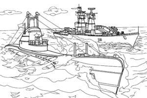 Подводная лодка картинки раскраски (40)