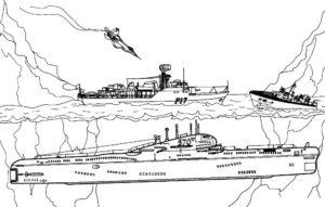 Подводная лодка картинки раскраски (5)
