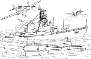 Подводная лодка картинки раскраски (6)