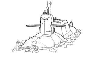 Подводная лодка картинки раскраски (7)