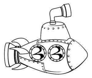 Подводная лодка картинки раскраски (8)