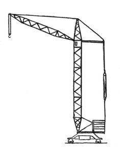 Подъемный кран картинки раскраски (16)