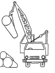 Подъемный кран картинки раскраски (8)