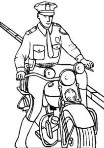 Полиция картинки раскраски (10)