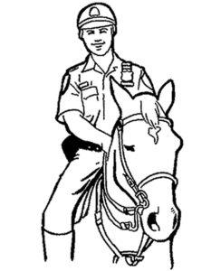 Полиция картинки раскраски (13)