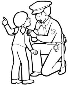Полиция картинки раскраски (15)