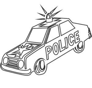 Полиция картинки раскраски (17)