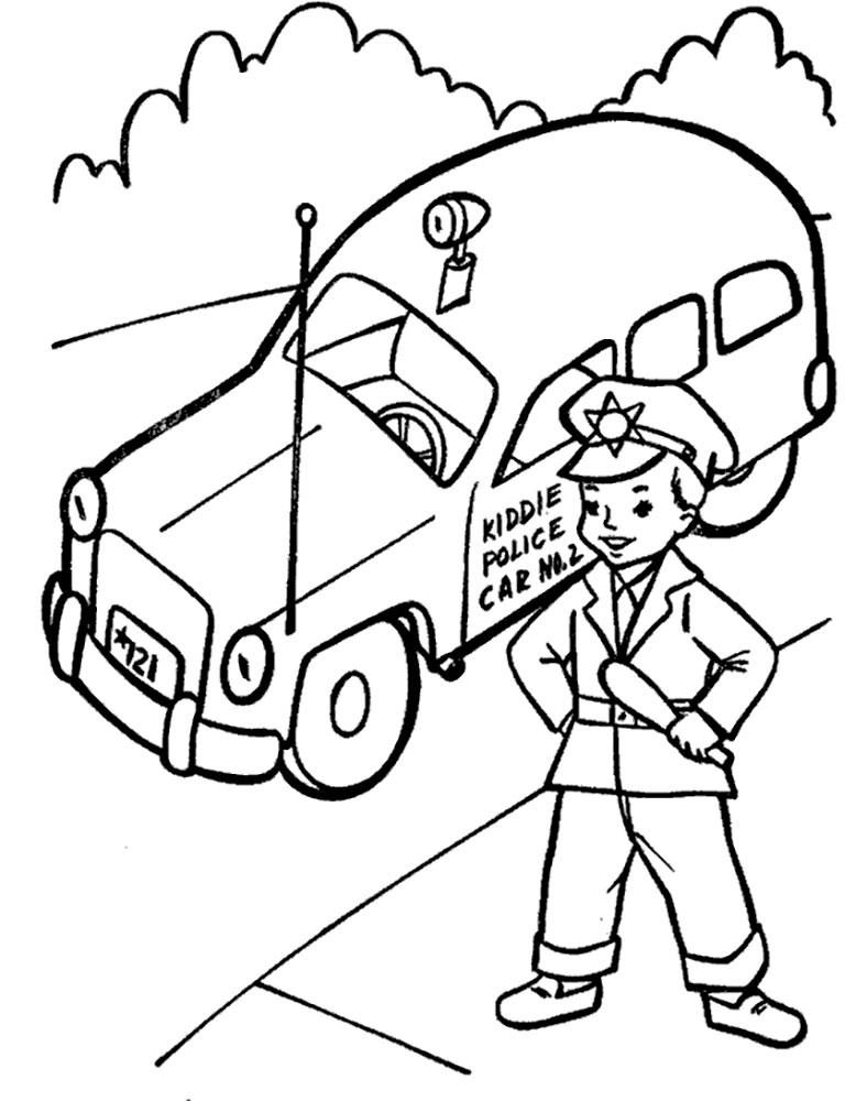 Полицейский картинки раскраски