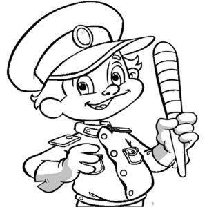 Полиция картинки раскраски (2)