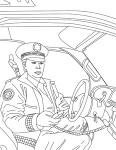 Полиция картинки раскраски (20)
