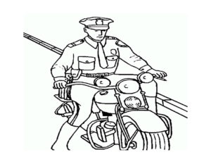 Полиция картинки раскраски (22)
