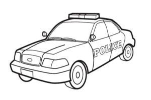 Полиция картинки раскраски (24)