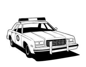 Полиция картинки раскраски (25)
