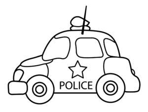 Полиция картинки раскраски (26)