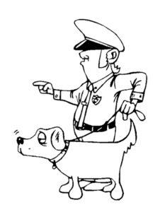 Полиция картинки раскраски (27)