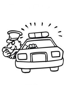 Полиция картинки раскраски (28)