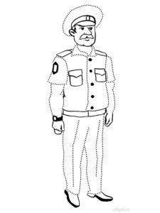 Полиция картинки раскраски (31)
