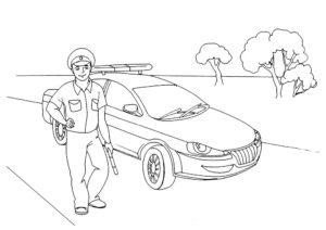 Полиция картинки раскраски (32)