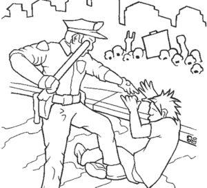 Полиция картинки раскраски (4)