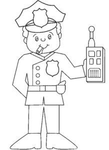 Полиция картинки раскраски (6)