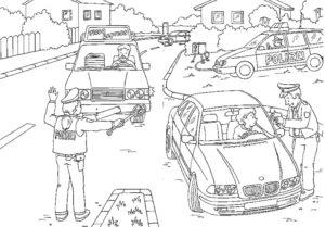 Полиция картинки раскраски (7)