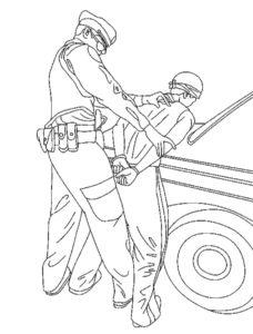 Полиция картинки раскраски (8)