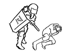 Полиция картинки раскраски (9)
