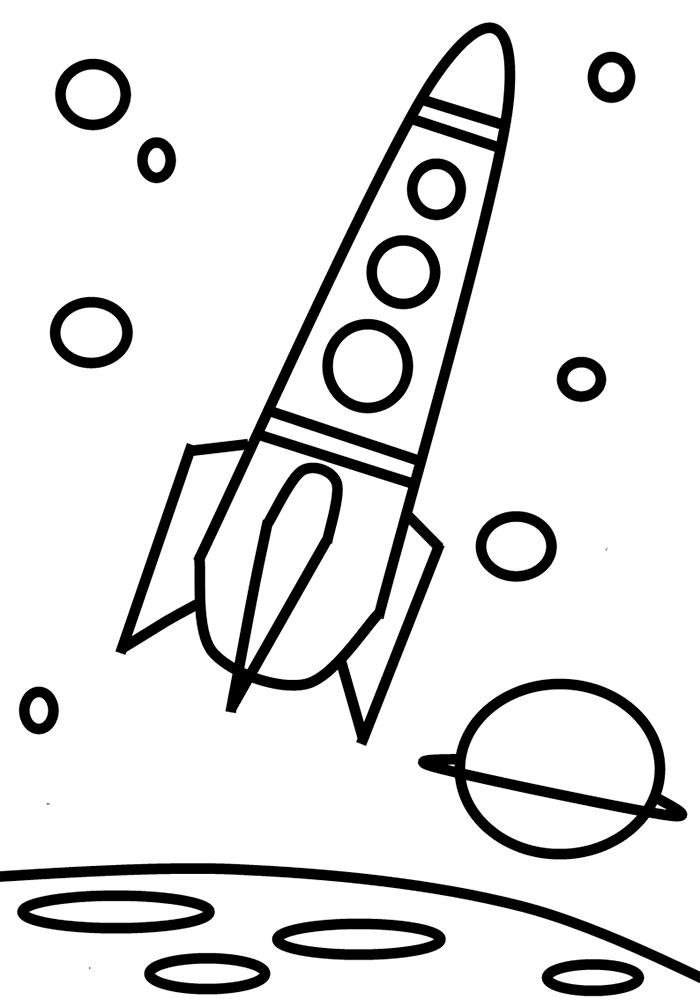 Ракета картинки раскраски (11)