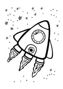 Ракета картинки раскраски (12)