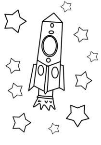 Ракета картинки раскраски (13)