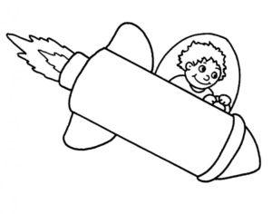 Ракета картинки раскраски (14)