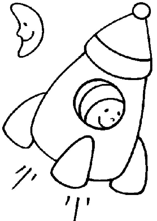 Ракета картинки раскраски (16)