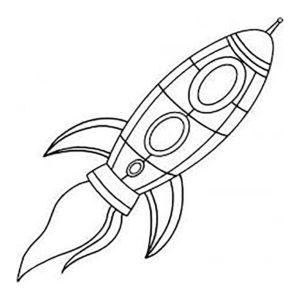 Ракета картинки раскраски (18)