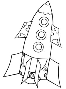 Ракета картинки раскраски (23)
