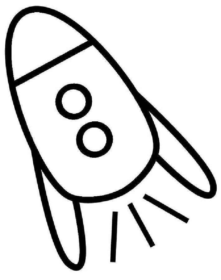Ракета картинки раскраски (25)