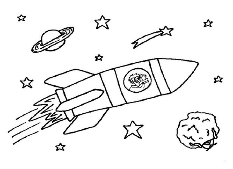 Ракета картинки раскраски (27)