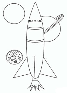 Ракета картинки раскраски (29)