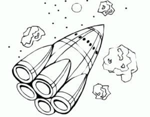 Ракета картинки раскраски (3)