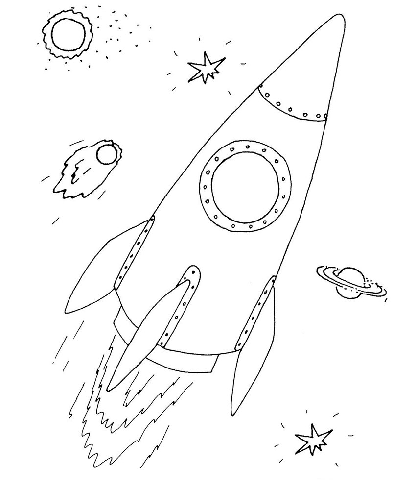 Ракета картинки раскраски (31)