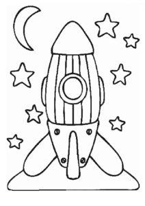 Ракета картинки раскраски (33)