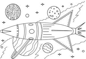 Ракета картинки раскраски (34)