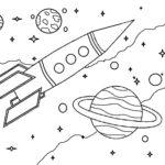 Ракета картинки раскраски (35)