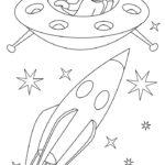 Ракета картинки раскраски (36)