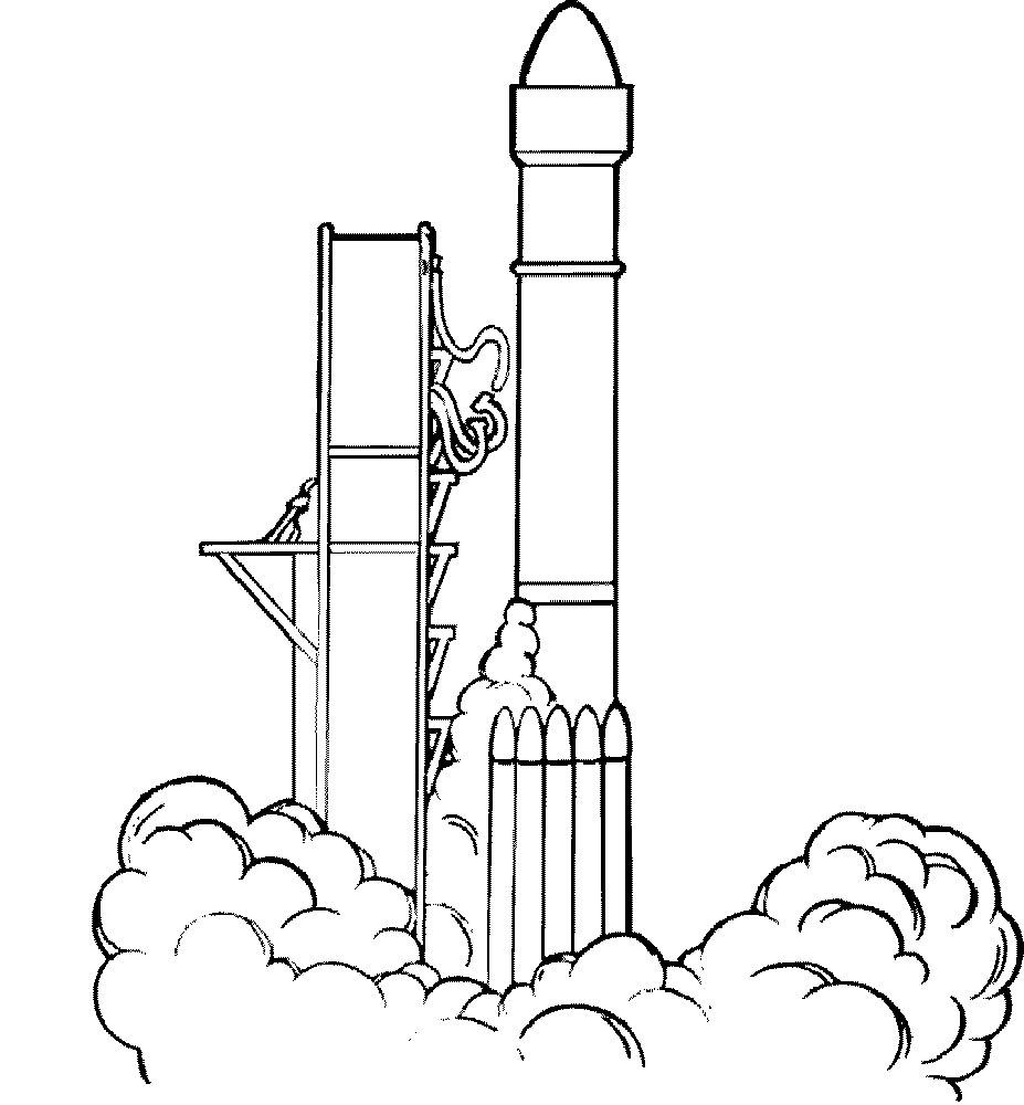Ракета картинки раскраски (39)
