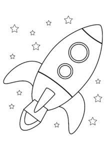 Ракета картинки раскраски (41)