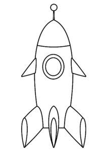 Ракета картинки раскраски (42)